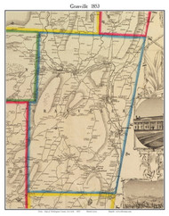 Granville, New York 1853 Old Town Map Custom Print - Washington Co.