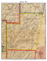 Hebron, New York 1853 Old Town Map Custom Print - Washington Co.