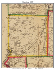 Kingsbury, New York 1853 Old Town Map Custom Print - Washington Co.