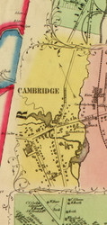 Cambridge Village, New York 1853 Old Town Map Custom Print - Washington Co.