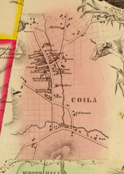 Coila, New York 1853 Old Town Map Custom Print - Washington Co.