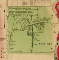 Granville Village, New York 1853 Old Town Map Custom Print - Washington Co.
