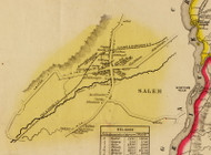Salem Village, New York 1853 Old Town Map Custom Print - Washington Co.