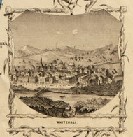 White Hall Picture, New York 1853 Old Town Map Custom Print - Washington Co.
