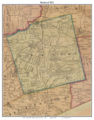 Bedford, New York 1851 Old Town Map Custom Print - Westchester Co.