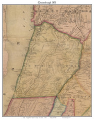 Greensburgh, New York 1851 Old Town Map Custom Print - Westchester Co.