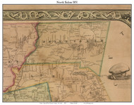 North Salem, New York 1851 Old Town Map Custom Print - Westchester Co.