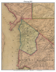 Ossining, New York 1851 Old Town Map Custom Print - Westchester Co.