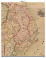 Rye, New York 1851 Old Town Map Custom Print - Westchester Co.