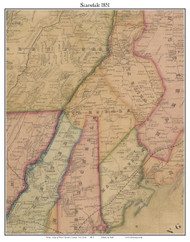 Scarsdale, New York 1851 Old Town Map Custom Print - Westchester Co.