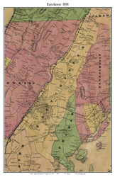 Eastchester, New York 1858 Old Town Map Custom Print - Westchester Co.