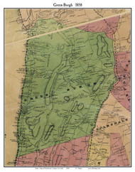 Green Burgh, New York 1858 Old Town Map Custom Print - Westchester Co.