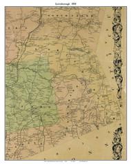 Lewisborough, New York 1858 Old Town Map Custom Print - Westchester Co.