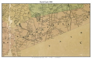North Castle, New York 1858 Old Town Map Custom Print - Westchester Co.