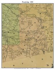 Poundridge, New York 1858 Old Town Map Custom Print - Westchester Co.