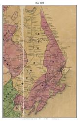 Rye, New York 1858 Old Town Map Custom Print - Westchester Co.