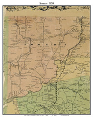 Somers, New York 1858 Old Town Map Custom Print - Westchester Co.