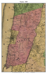 Yonkers, New York 1858 Old Town Map Custom Print - Westchester Co.