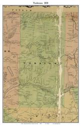 Yorktown, New York 1858 Old Town Map Custom Print - Westchester Co.