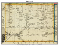 China, New York 1853 Old Town Map Custom Print - Wyoming Co.