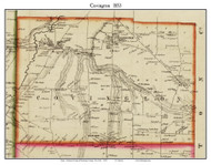 Covington, New York 1853 Old Town Map Custom Print - Wyoming Co.