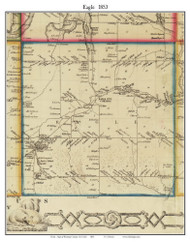 Eagle, New York 1853 Old Town Map Custom Print - Wyoming Co.