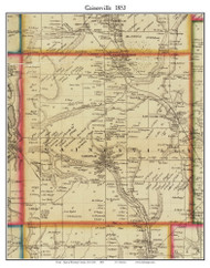 Gainesville, New York 1853 Old Town Map Custom Print - Wyoming Co.