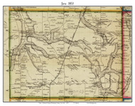 Java, New York 1853 Old Town Map Custom Print - Wyoming Co.