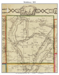 Middlebury, New York 1853 Old Town Map Custom Print - Wyoming Co.