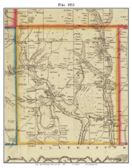 Pike, New York 1853 Old Town Map Custom Print - Wyoming Co.