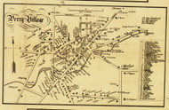 Perry Village, New York 1853 Old Town Map Custom Print - Wyoming Co.
