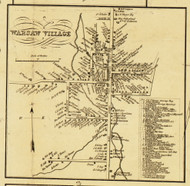 Warsaw Village, New York 1853 Old Town Map Custom Print - Wyoming Co.
