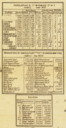 Statistics, New York 1853 Old Town Map Custom Print - Wyoming Co.