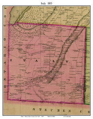 Italy, New York 1855 Old Town Map Custom Print - Yates Co.