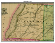 Middlesex, New York 1855 Old Town Map Custom Print - Yates Co.