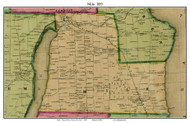 Milo, New York 1855 Old Town Map Custom Print - Yates Co.