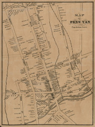 Penn Yan, New York 1855 Old Town Map Custom Print - Yates Co.