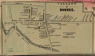 Dundee, New York 1855 Old Town Map Custom Print - Yates Co.