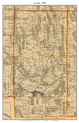 Arcadia, New York 1858 Old Town Map Custom Print - Wayne Co.