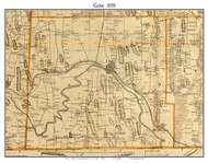 Galen, New York 1858 Old Town Map Custom Print - Wayne Co.