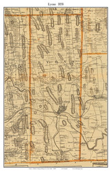 Lyons, New York 1858 Old Town Map Custom Print - Wayne Co.