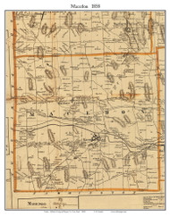 Macedon, New York 1858 Old Town Map Custom Print - Wayne Co.