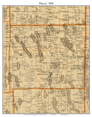 Marion, New York 1858 Old Town Map Custom Print - Wayne Co.
