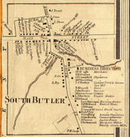 South Butler, New York 1858 Old Town Map Custom Print - Wayne Co.