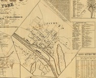 Clyde, New York 1858 Old Town Map Custom Print - Wayne Co.