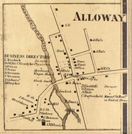 Alloway, New York 1858 Old Town Map Custom Print - Wayne Co.