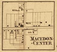 Macedon Center, New York 1858 Old Town Map Custom Print - Wayne Co.