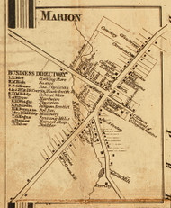 Marion Village, New York 1858 Old Town Map Custom Print - Wayne Co.