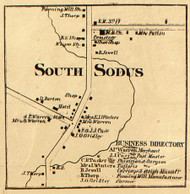 South Sodus, New York 1858 Old Town Map Custom Print - Wayne Co.