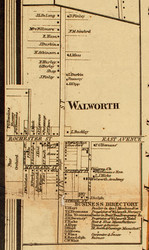Walworth Village, New York 1858 Old Town Map Custom Print - Wayne Co.